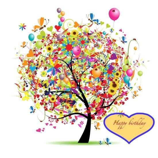 birthday tree | Birthday tree, Birthday wishes, Happy holidays
