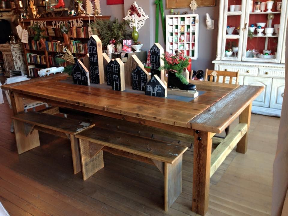 Handmade Barn Wood Table At Gravy Home Goods Jewell IA