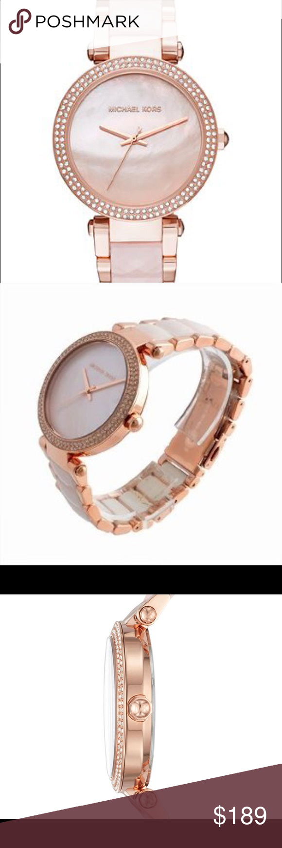 6feec98e3679 Michael Kors Women s Parker Rose Gold Watch Mk6402 Parker Rose Gold-Tone  and Blush Acetate