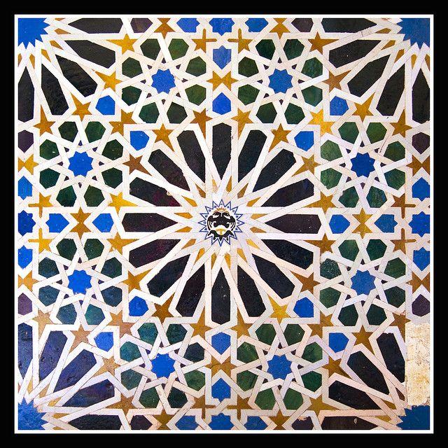Padrões geométricos de Alhambra, em Granada (Espanha).