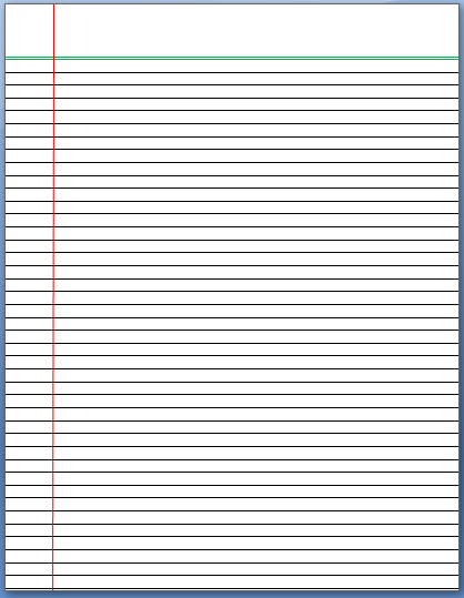 Lined Paper Template  Just Lines Writing Paper