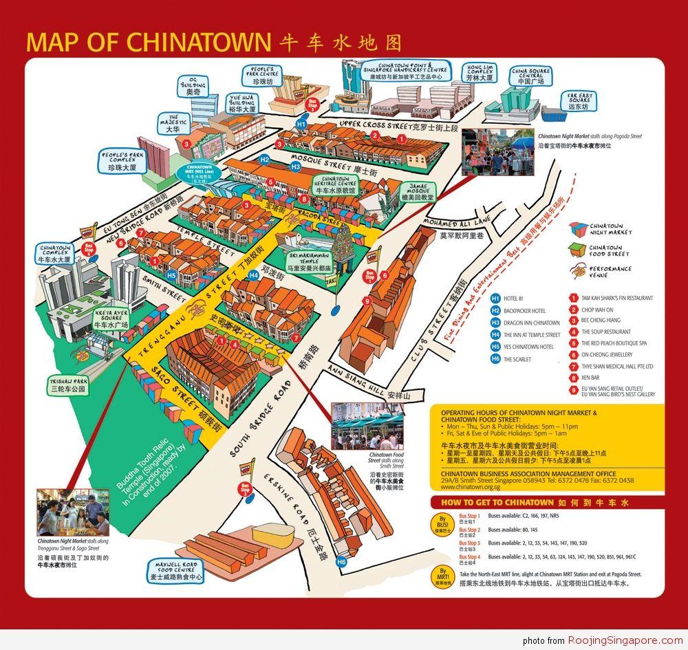Singapore-Chinatown-Map | Singapore map, Map, Singapore