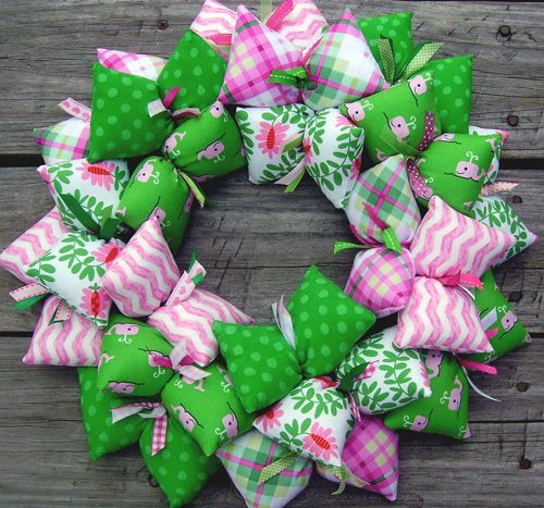 Preppy Whale Pink and Green Children\u0027s Decor Wreath Kelly green - Plan Maison Sweet Home 3d