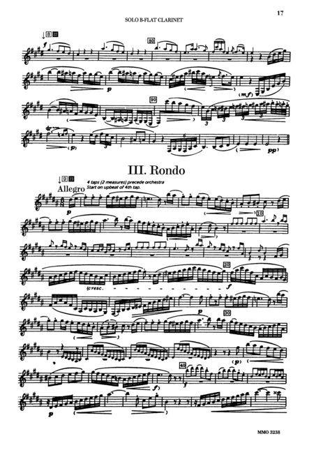 Mozart Clarinet Concerto Music Mozart Clarinet Concerto