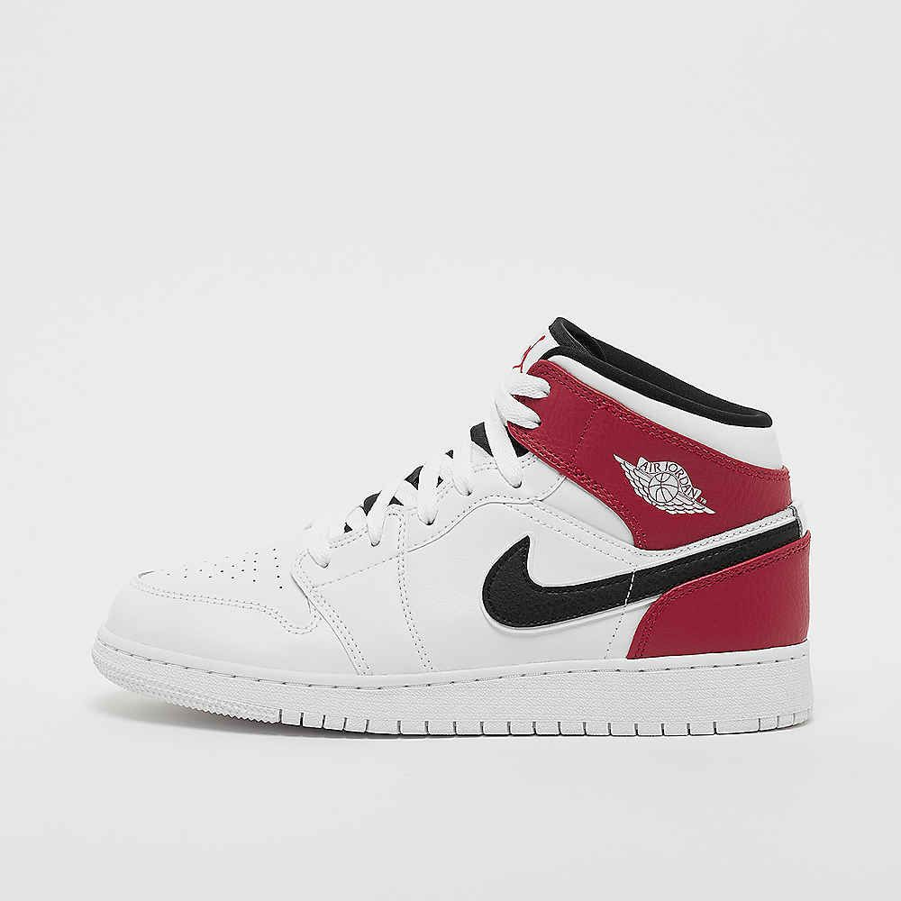 JORDAN Air Jordan 1 Mid white/black/gym red Fashion sneakers ...