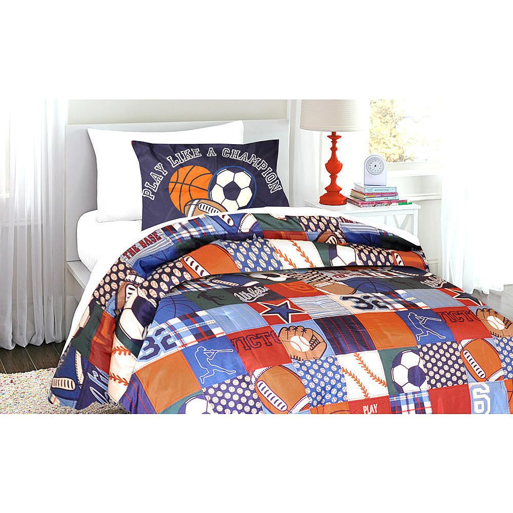 Bed Set Twin Comforter Kid Teen Boy Sport US Football Basketball Soccer Baseball Piper