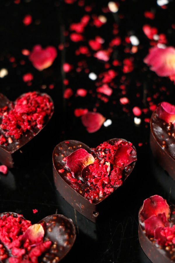 Raspberry Amaranth Chocolate Hearts Vegan Recipe Vegan