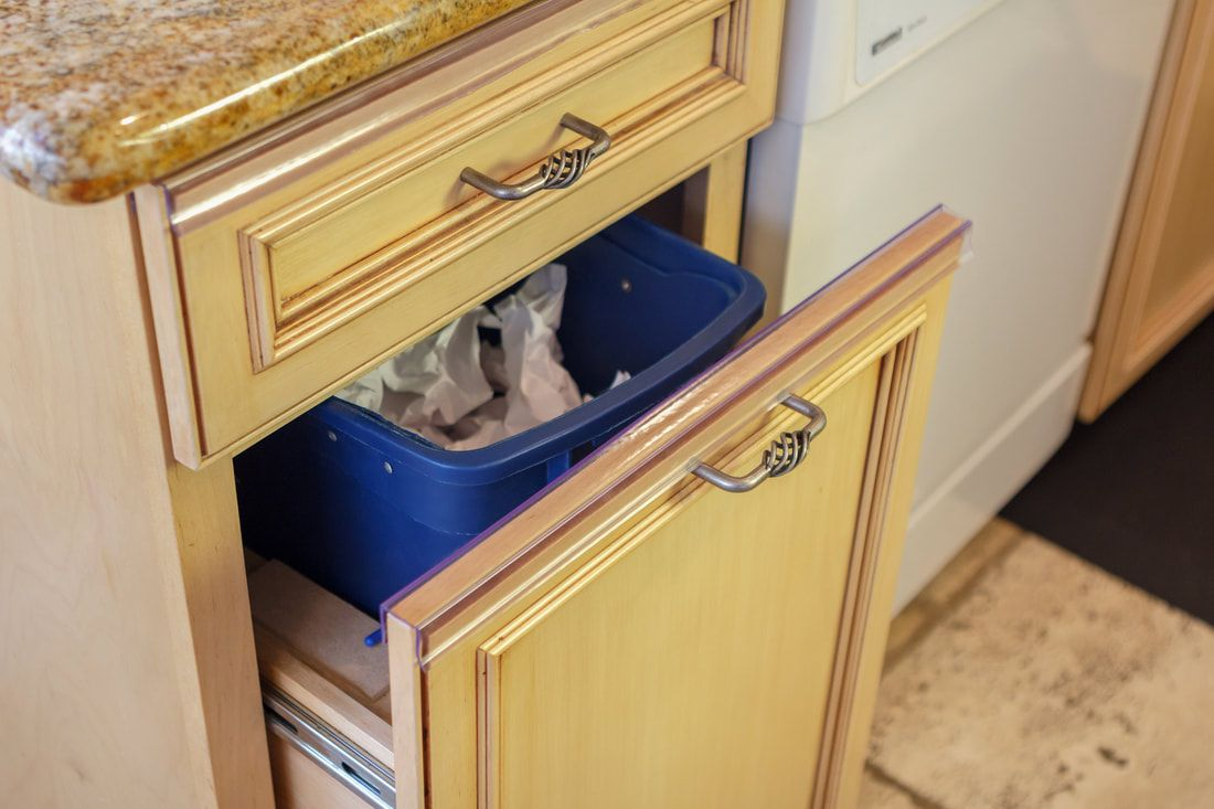 Slip To On Your Trash Pull Out Drawer To Guard Against Chipping Peeling Grease And Water Drips That Will Dama Door Protector Cleaning Cabinets Cabinet Doors