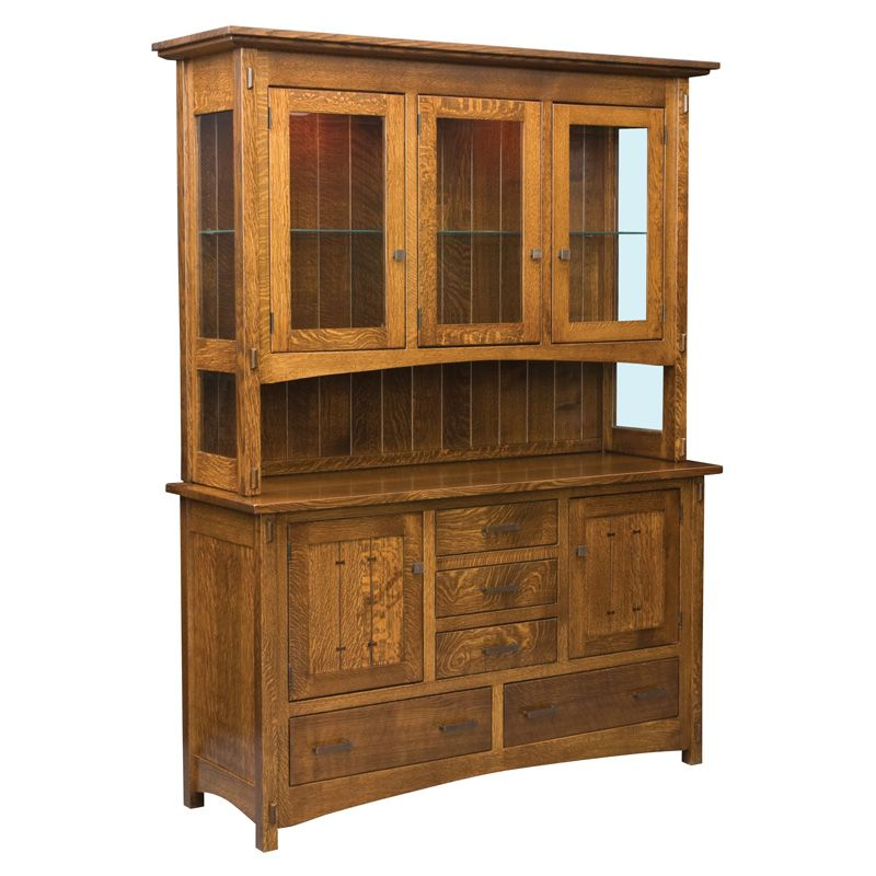 Amish Crestline Hutch Amish Furniture
