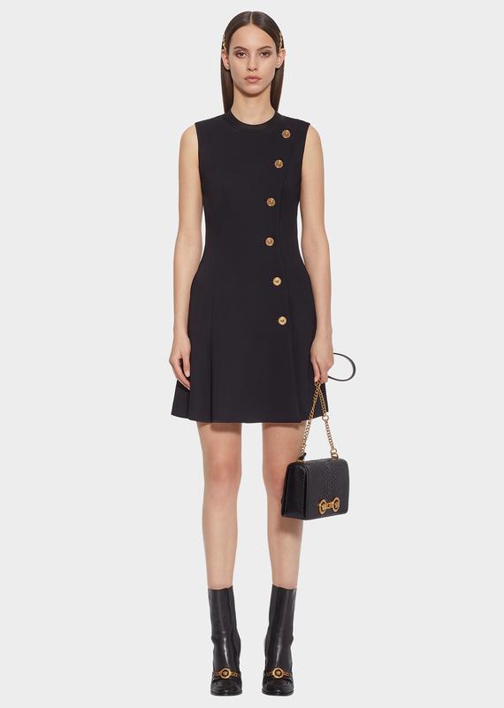 5dfb0a447fbd Medusa Button Mini Dress - black Dresses