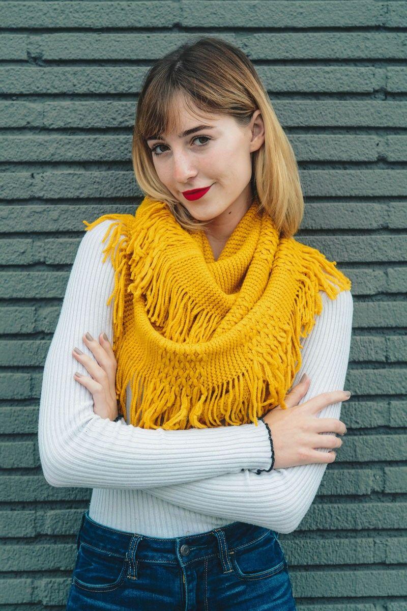 pointelle tassel infinity scarf leto wholesale top best