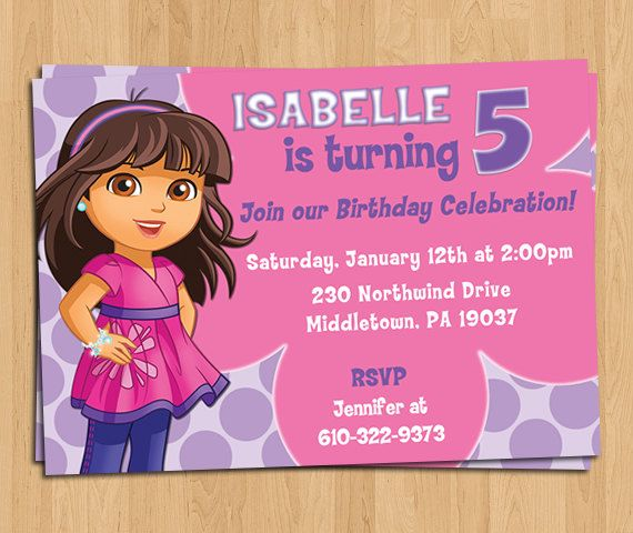 Dora and friends into the city birthday party invitation dora and friends into the city birthday party invitation personalized digital printable file 5x7 filmwisefo Choice Image