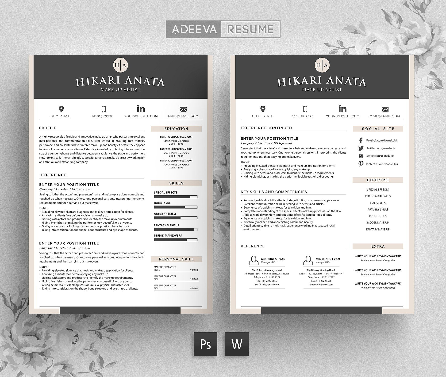 Beautiful Resume Templates Free #download Simple Resume Template Anata Https