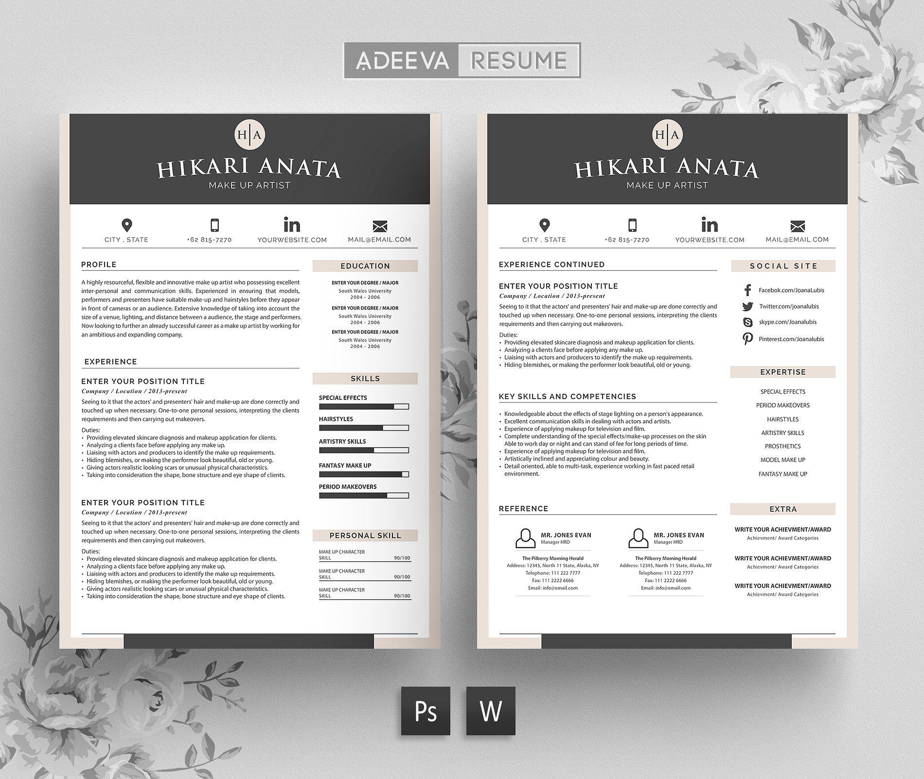 Simple Resume Template Anata | Simple resume template, Simple resume ...