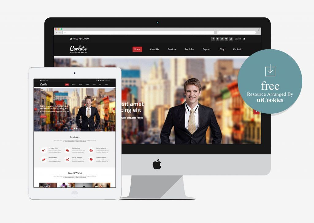 Corlate free responsive business html template 100 best free corlate free responsive business html template accmission Choice Image