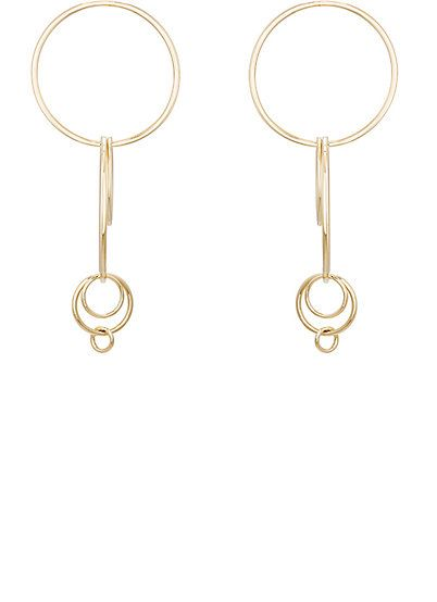item earring earrings interlocking fisher farfetch jennifer circle shopping smooth women