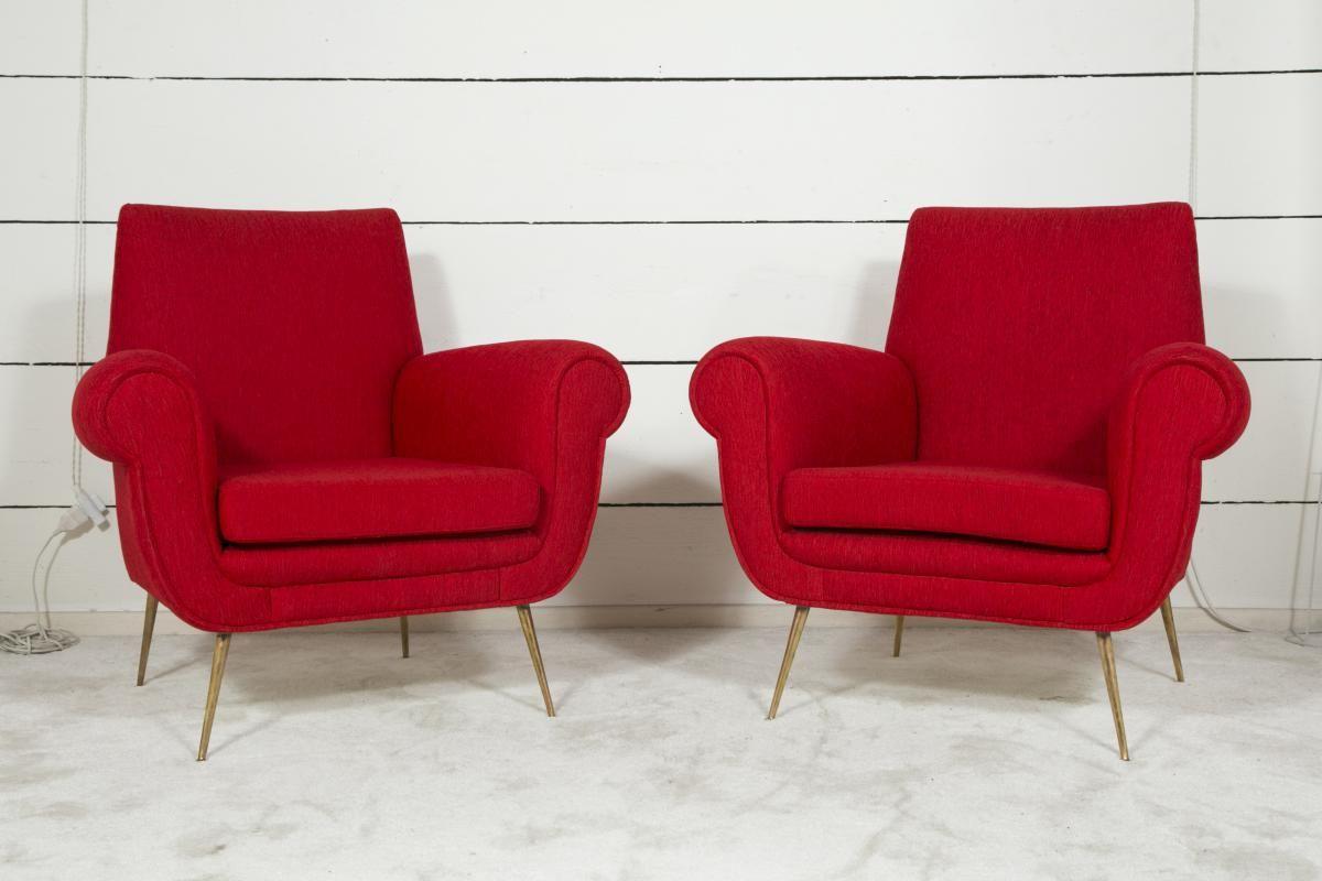 Paire De Fauteuils Design Italien Années 50 Pascal Sarfati