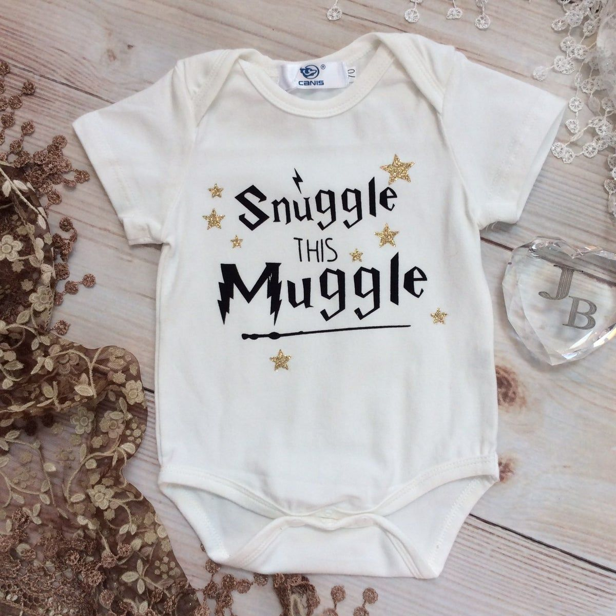 Snuggle This Muggle Harry Potter Inspired Onesie Funny Baby Onesie Sayings