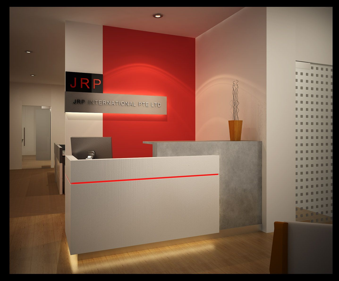 Rhythms Of Papagyi Office Reception Design