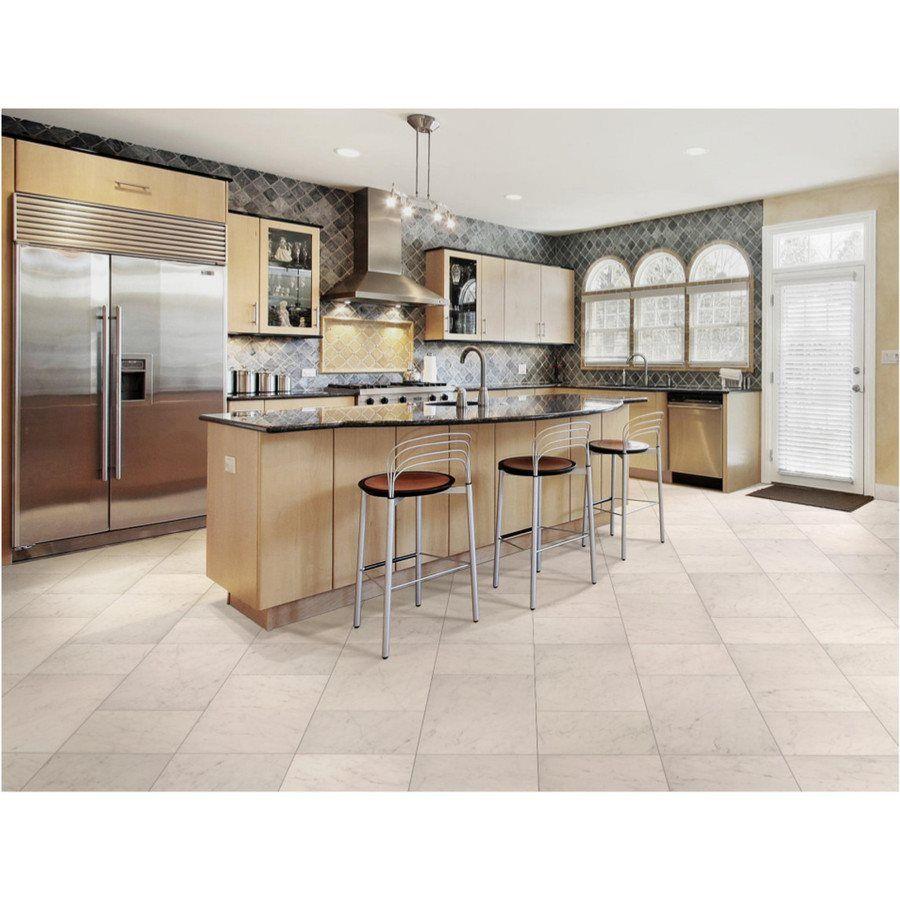 white porcelain kitchen floor tiles