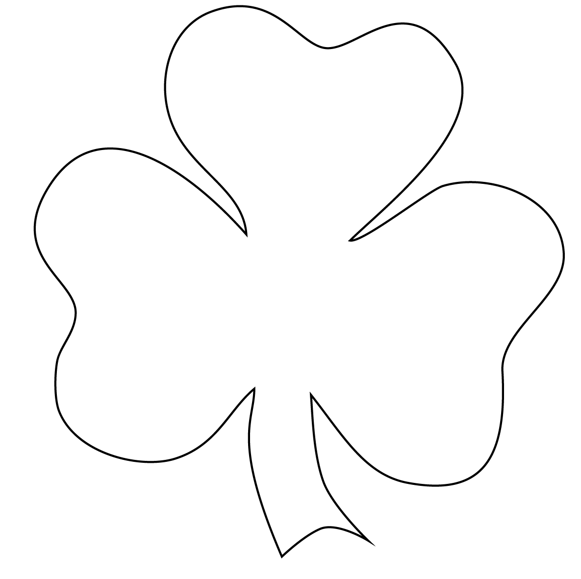 Candid image with shamrock coloring pages printable