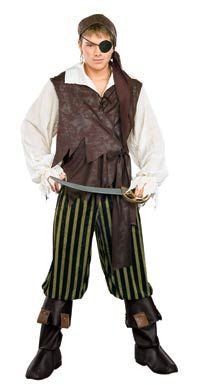 Click Image Above To Buy: Adult Caribbean Pirate Costume - Pirate Costumes