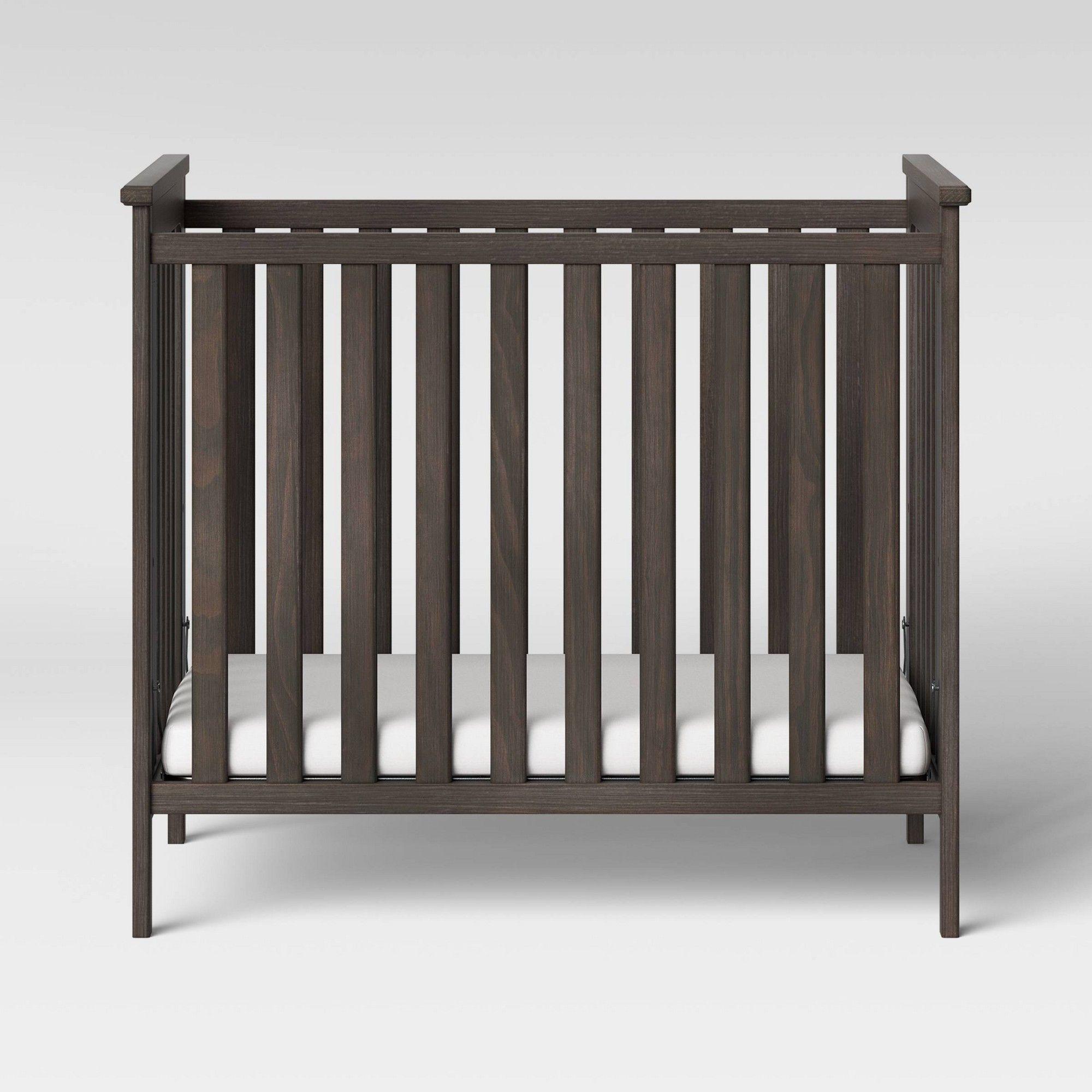 Simmons Kids Monterey Mini Crib with Mattress Rustic