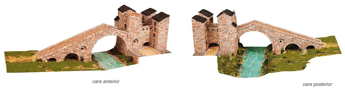 Puente de Camprodón S. XIII / Camprodón es un municipio español de la comarca del Ripollés en la provincia de Gerona, Cataluña / http://www.decorarconarte.com/epages/61552482.preview/es_ES/?ObjectPath=/Shops/61552482/Categories/%22Kits%20de%20maquetas%20construcci%C3%B3n%22