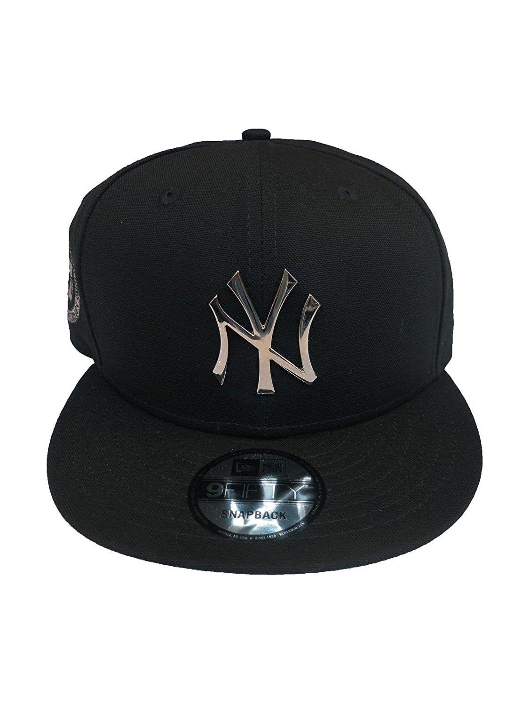 39e6c324cec New York Yankees Blue Metal Badge Silver 950 Mlb Hat Snap Cap Ny -  Silverblack - C1186OUZDZZ - Hats   Caps