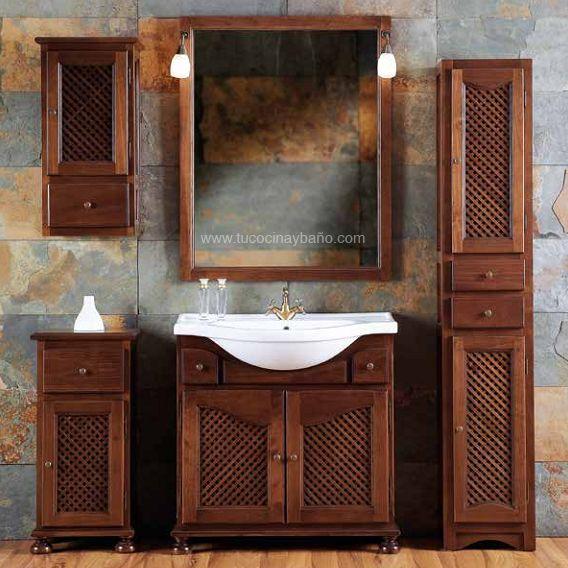 Muebles ba o rusticos coloniales muebles rusticos de for Muebles de bano de madera rusticos