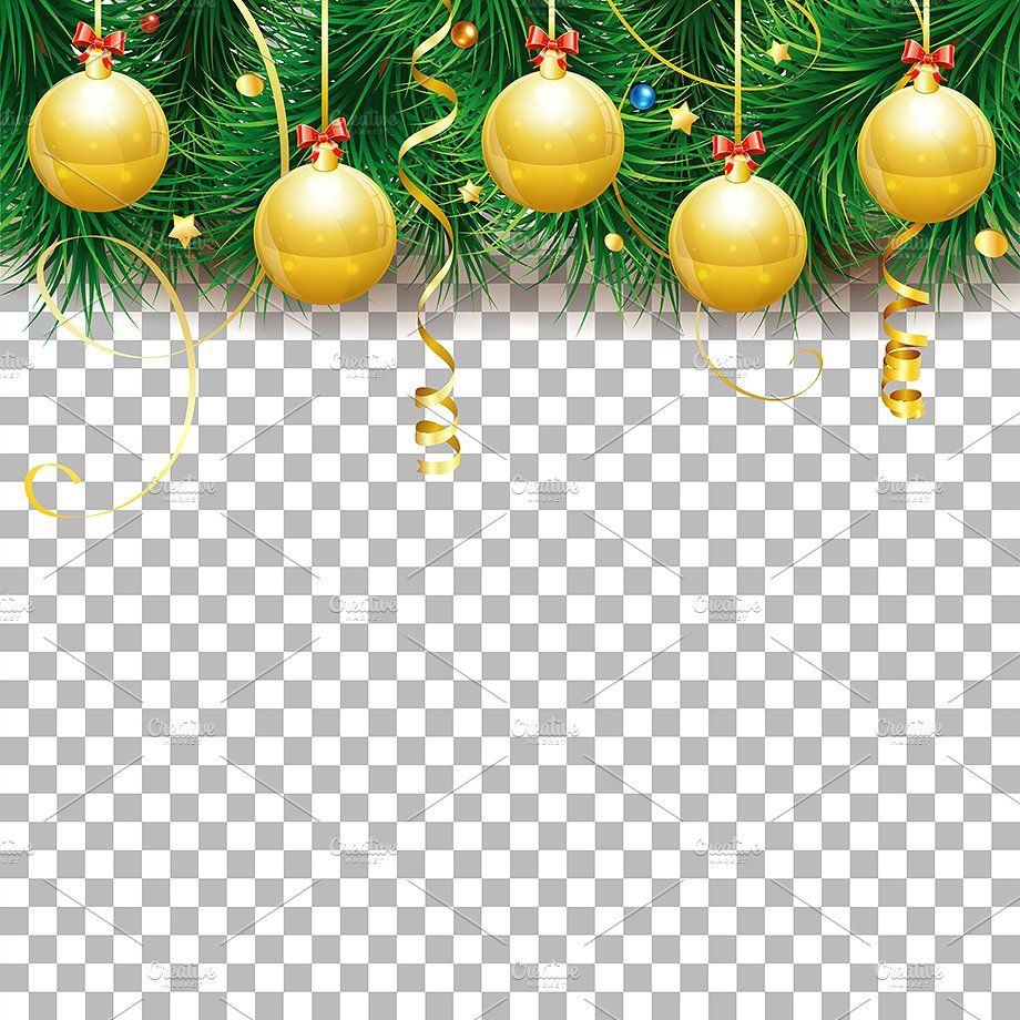 christmas and new year themes christmas new year frame holiday transparent streamer xmas bauble bow ribbon concept confetti fir tree branch