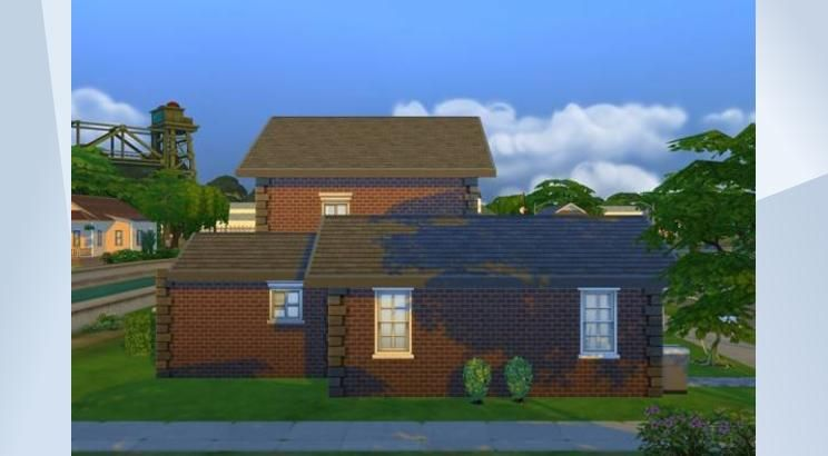 Check out this lot in The Sims 4 Gallery! - It's a smallish & fairly unassuming property (aside from the rocketship) when viewed from the street...  but beneath it's familial surface lurks a depth you can only image.