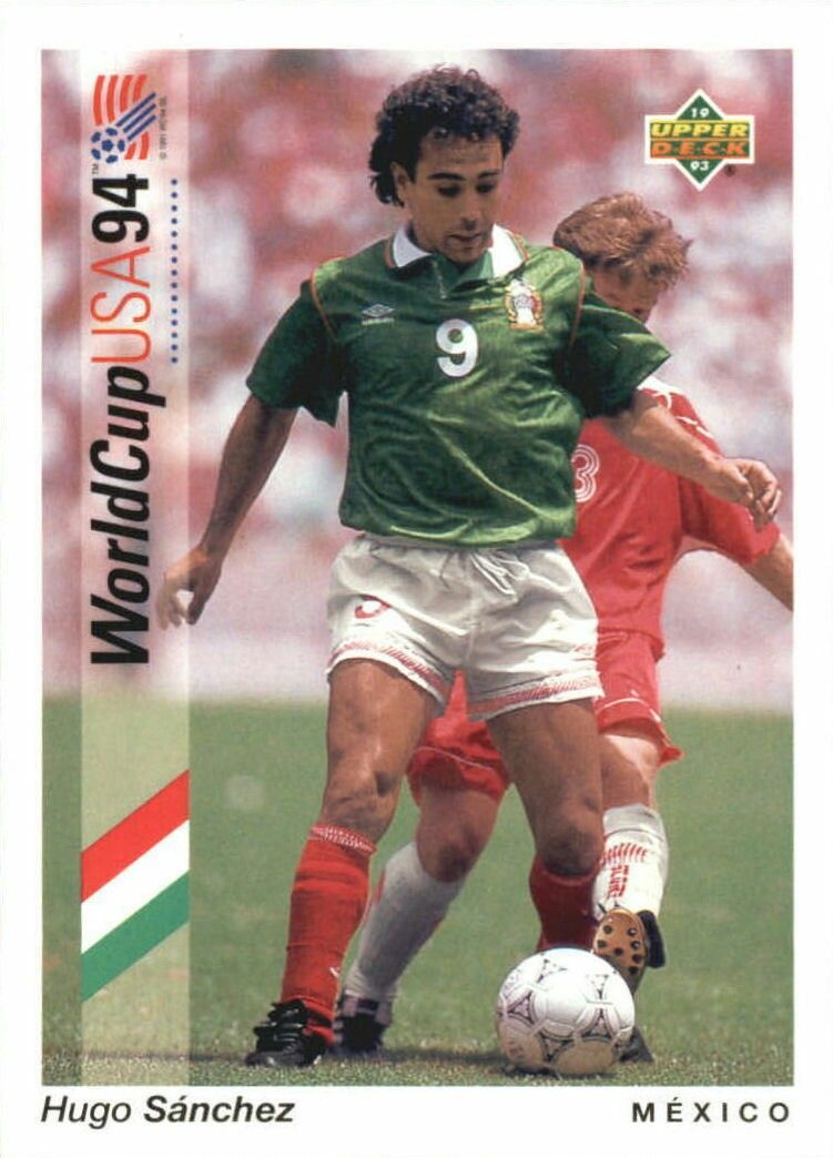 a3a2c8763c6 Hugo Sanchez of Mexico. 1994 World Cup Finals card. | Soccer Greats ...