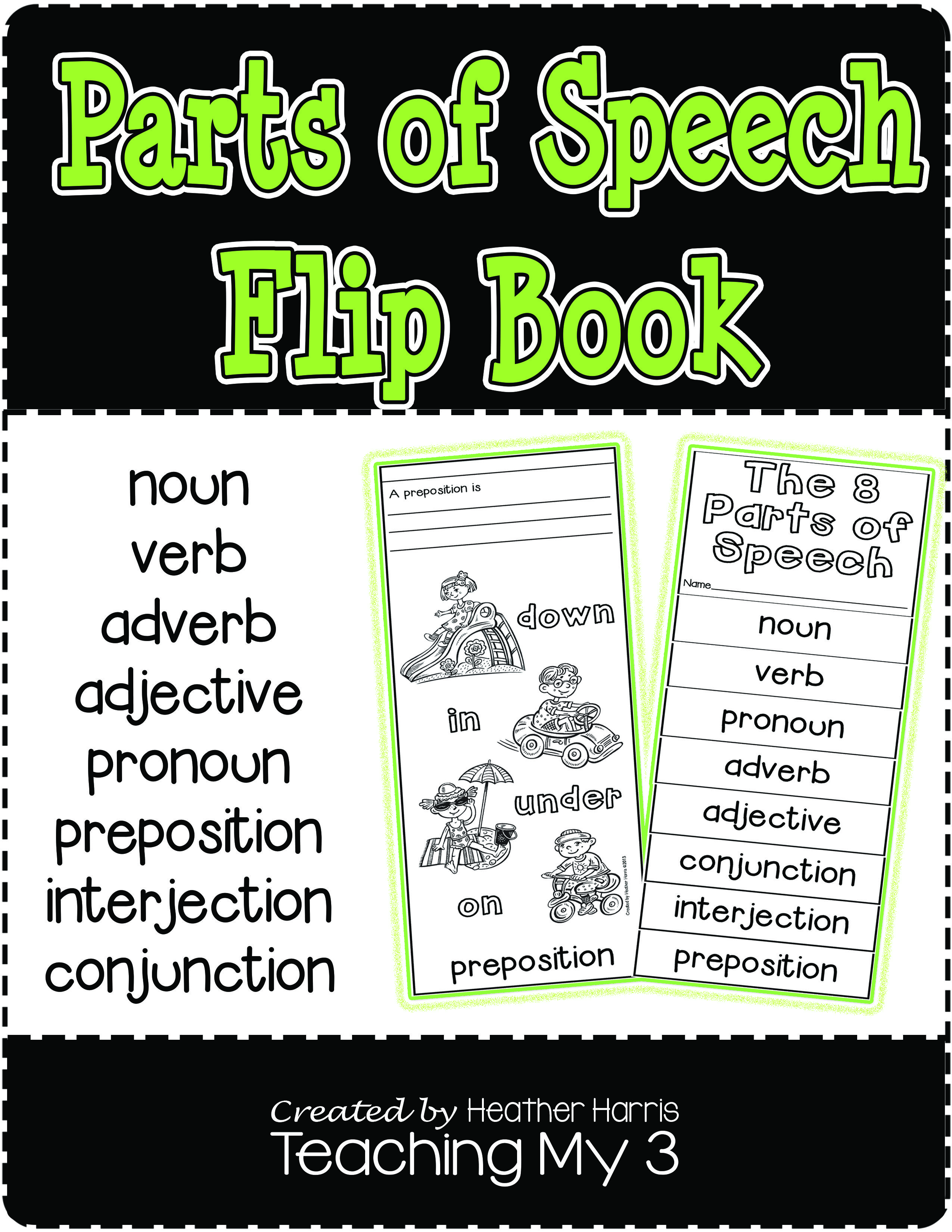 Help Your Students Learn The 8 Parts Of Speech With This Flip Book