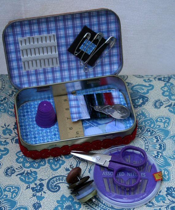 tin traveling sewing kit