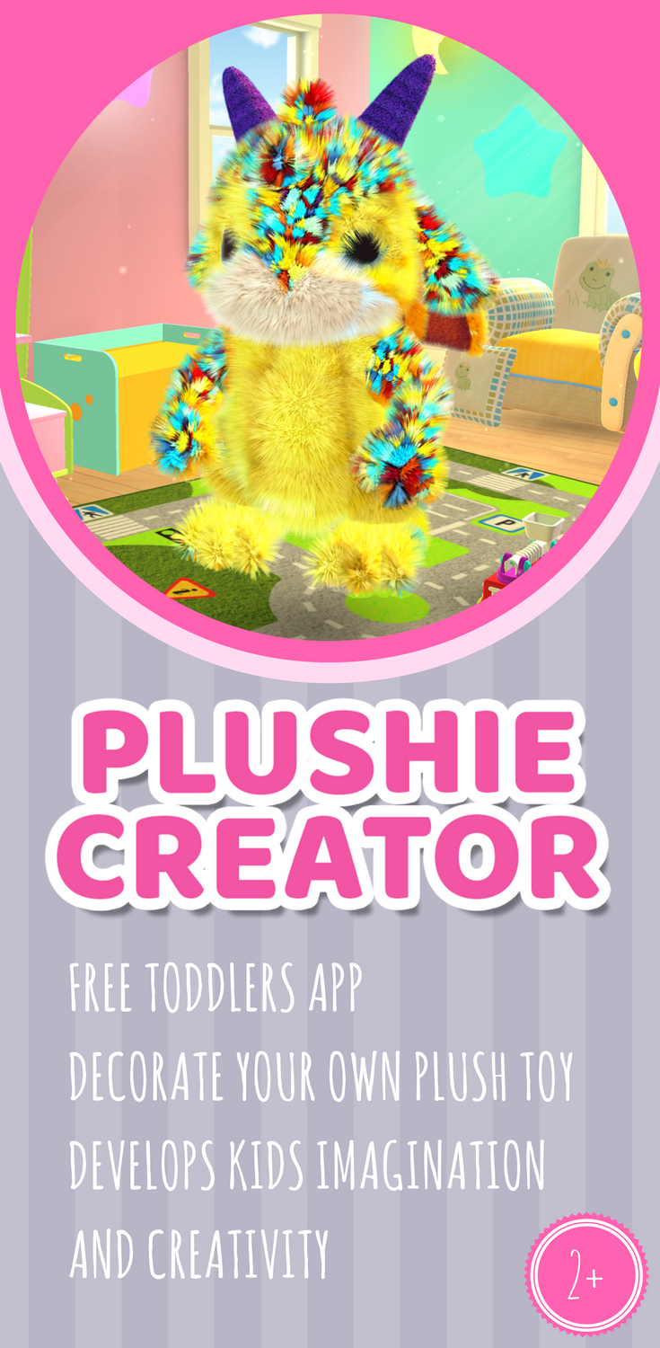 Plushie Creator is the cutest app out there for kids age 2