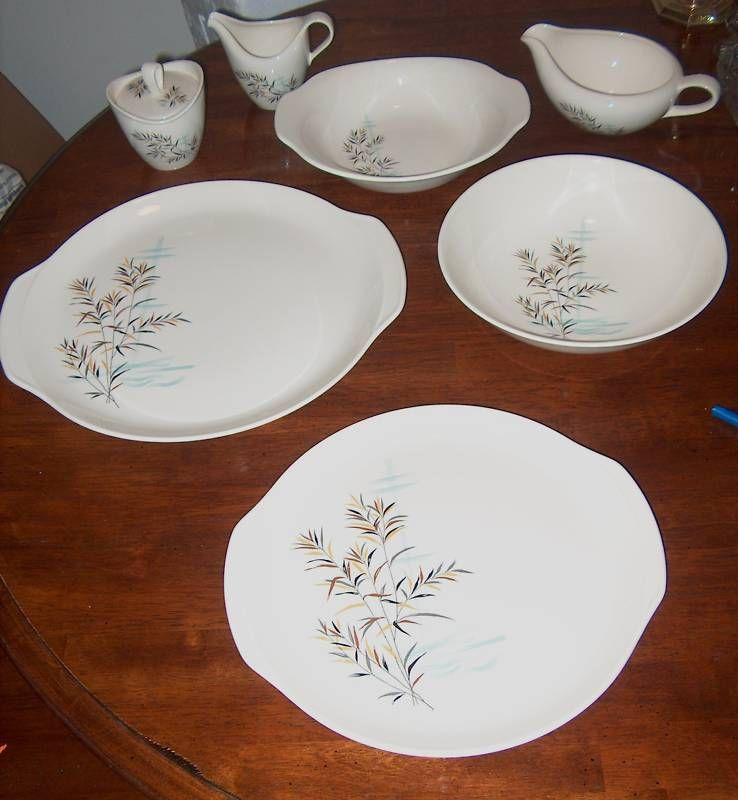 HUGE LOT of Salem China, Wild Rice  32 PC. Dinner Set, oven 2 table