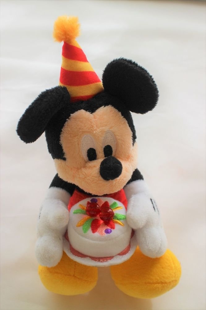 disney mickey mouse plush doll stuffed birthday present cake party