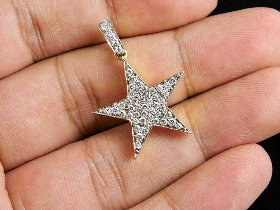 Natural Pave Diamond Star Charm Ring 925 Sterling Silver Fine Jewelry TW