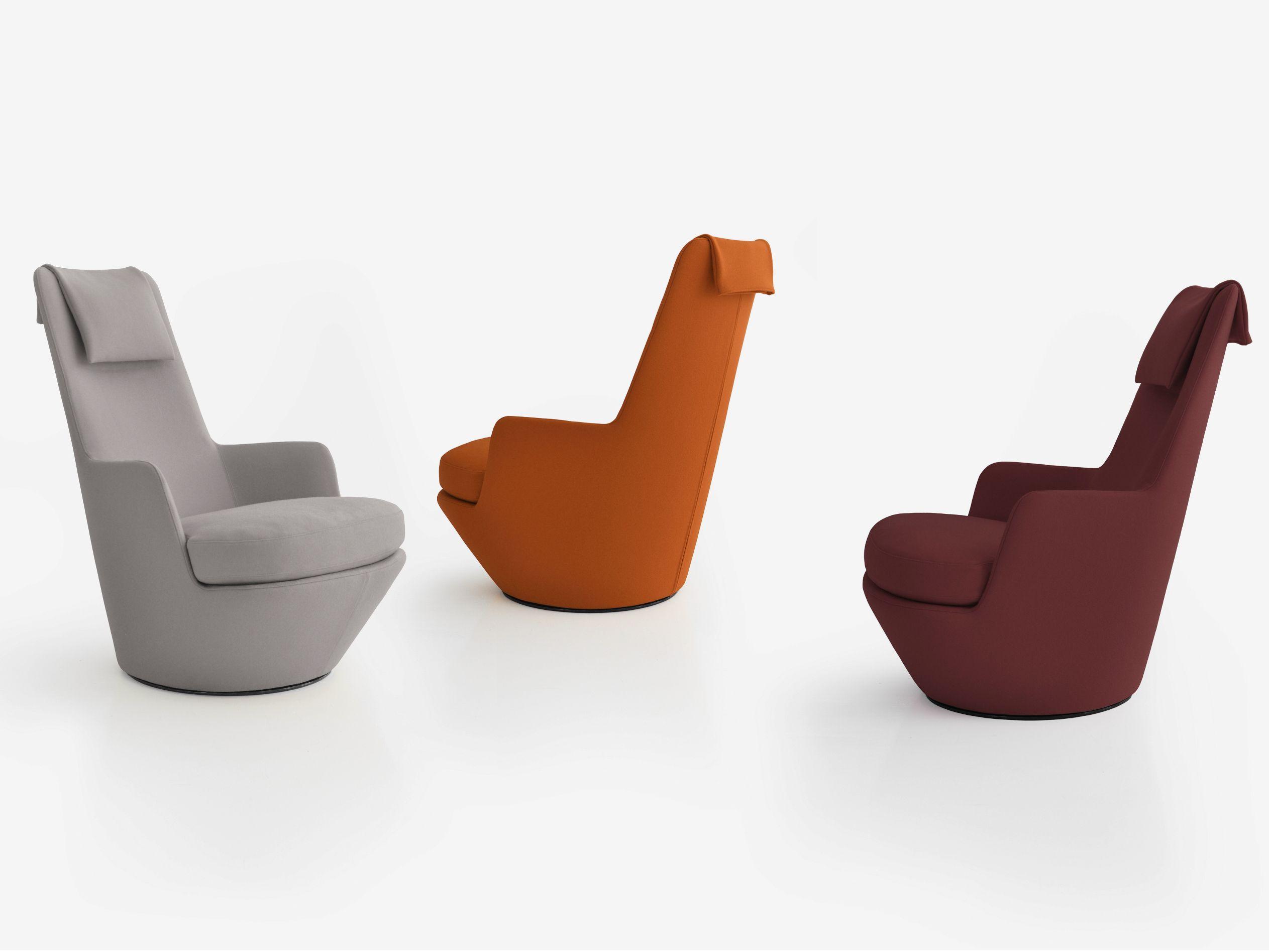 Highback swivel armchair HI TURN by BENSEN Chair