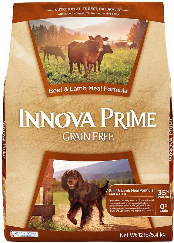 Innova Prime Grain Free Beef Lamb Meal Formula Adult Dry Dog
