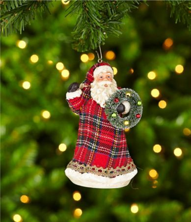 Shop for Dillard´s Trimmings Checking It Twice Red Plaid Resin Santa Ornament at Dillards.com. Visit Dillards.com to find clothing, accessories, shoes, cosmetics & more. The Style of Your Life.