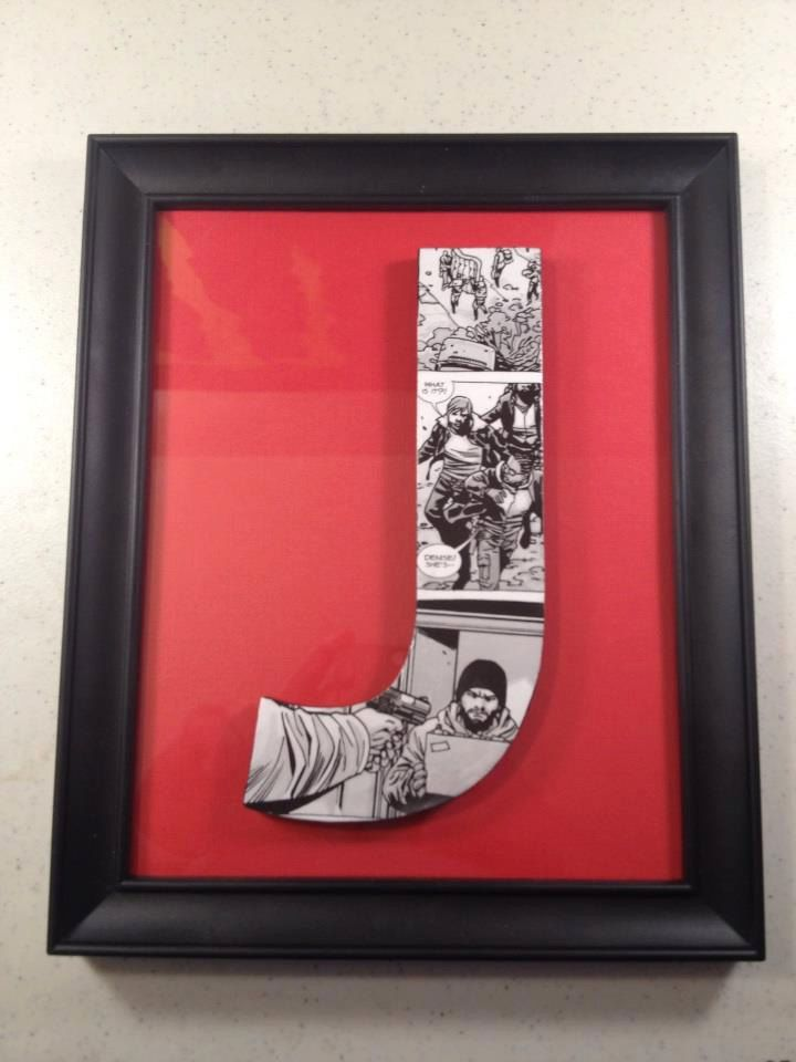 Walking Dead Framed Letters - Customized to any Letter. $25.00, via ...