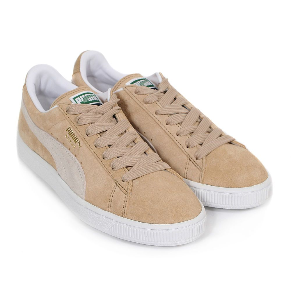 Puma Women's Suede Classic Pastel Lace-Up Trainer Curds & Whey Beige / White