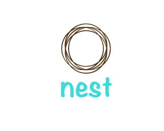 I Like The Simplicity But Not The Font Nest Logo Logo Fonts Egg Logo