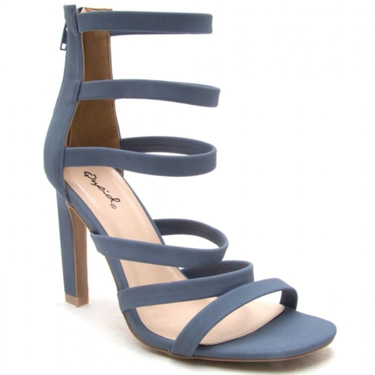 Qupid Shoes Hurst High Heel Strappy Sandal Nwt Color