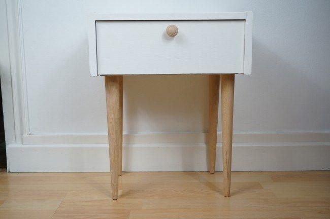 Table De Nuit Vintage Scandinave Chevet Deco Chambre Table De Nuit