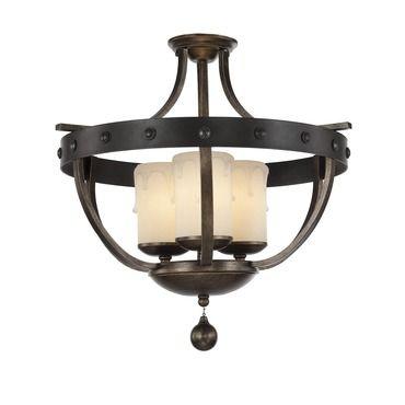 Alsace candle semi flush mount savoy house at lightology · ceiling lightingflush