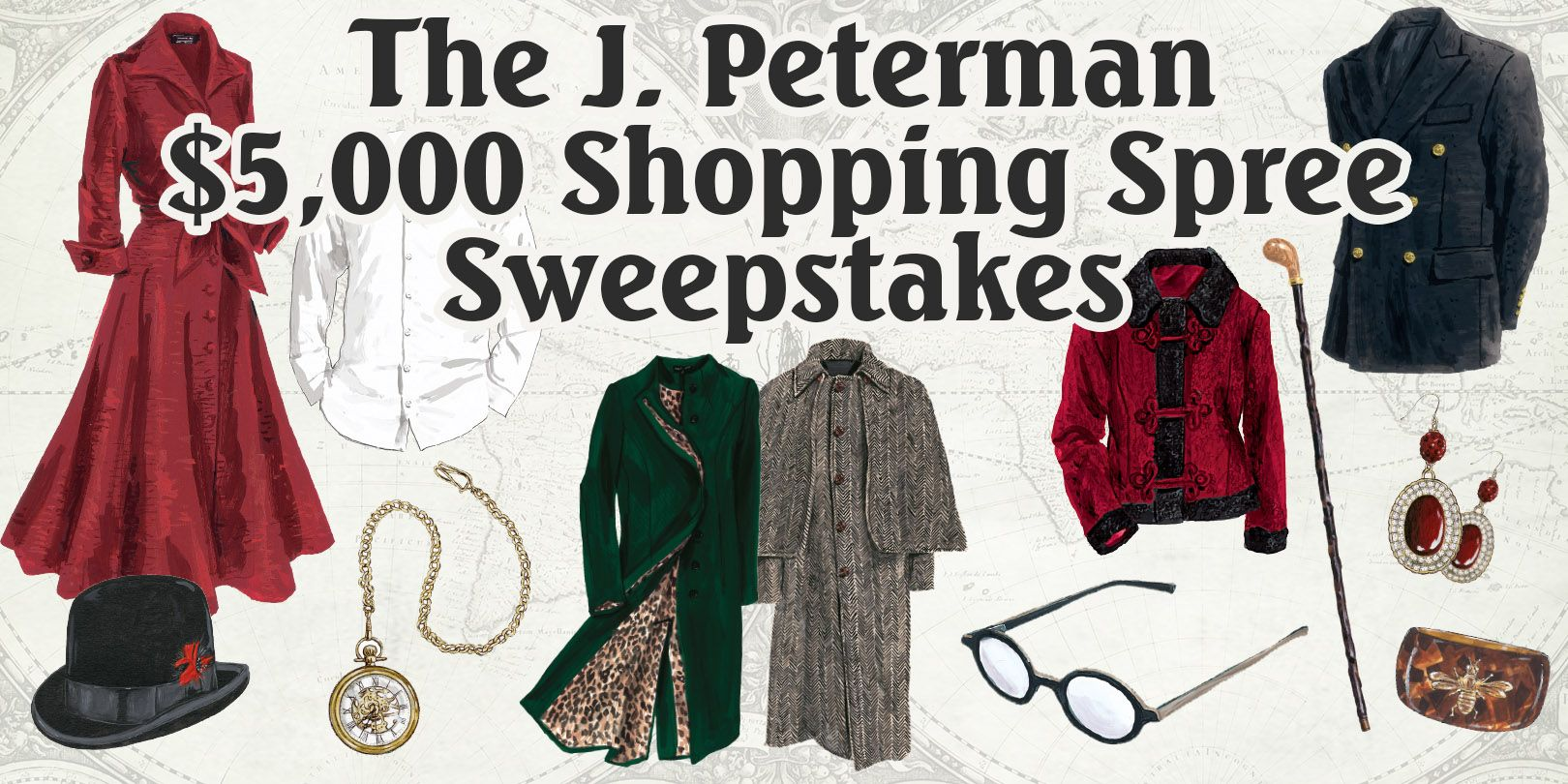 Win 5k to shop at J Peterman. What can I possibly buy