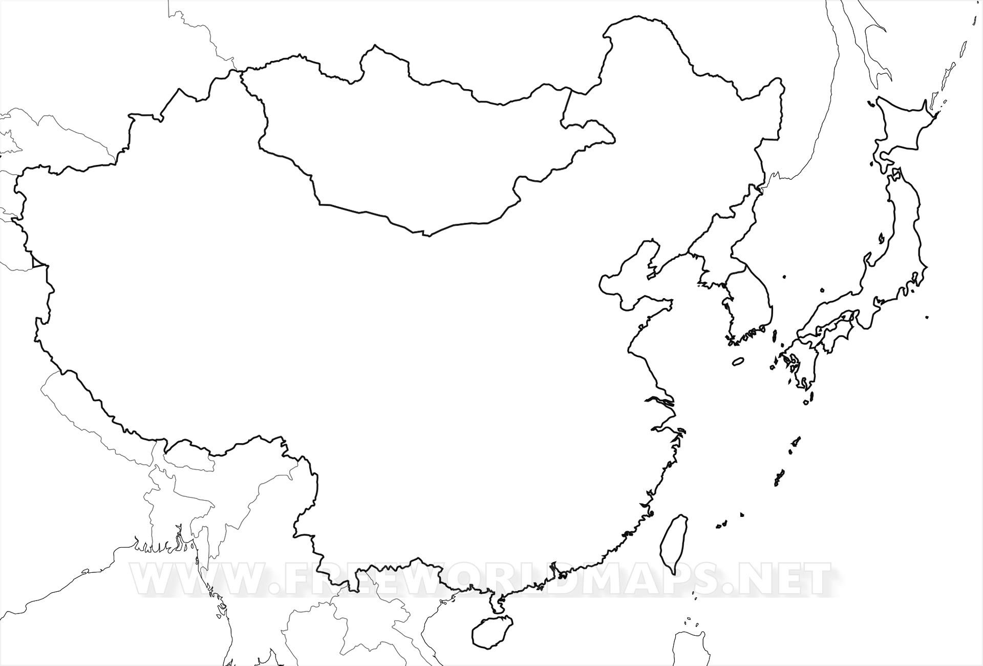Blank Map Of East Asia | Time Zones Map World